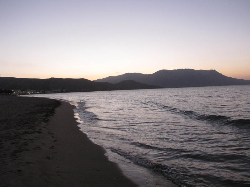 evening beach view